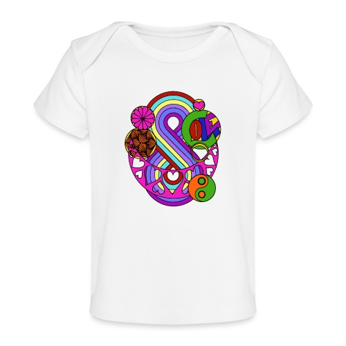 Colour Love Mandala - Organic Baby T-Shirt