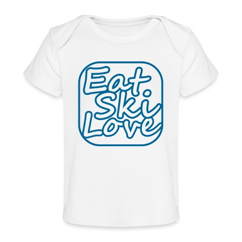 eat ski love - Baby bio-T-shirt