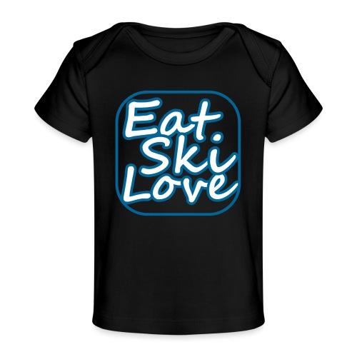eat ski love - Baby bio-T-shirt