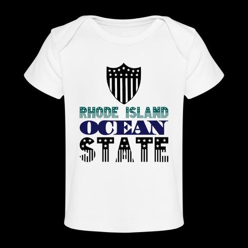 rhode island ocean state - Organic Baby T-Shirt