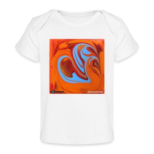 TIAN GREEN Mosaik DK005 - Herzenswelten - Baby Bio-T-Shirt
