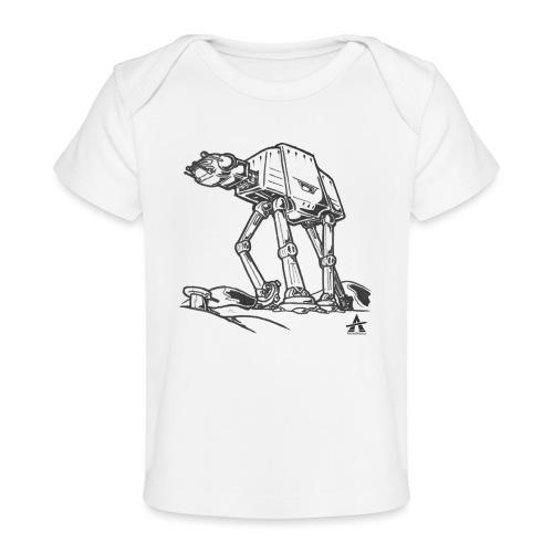 AT AT Walker ligne d'esquisse - T-shirt bio Bébé