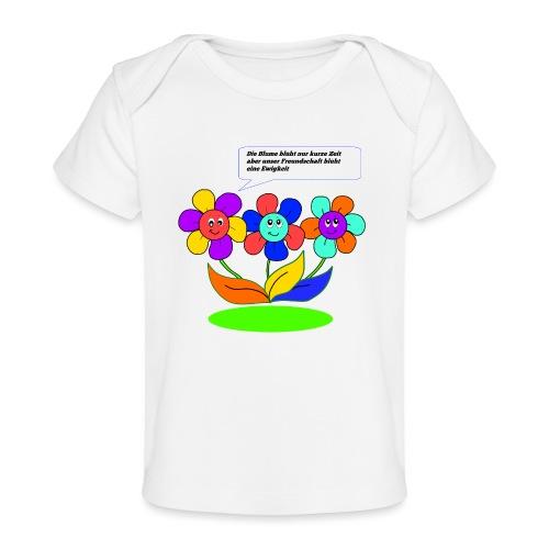 Blumen Freundschaft - Baby Bio-T-Shirt