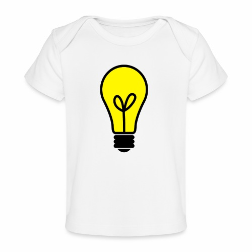 light bulb - Baby Bio-T-Shirt