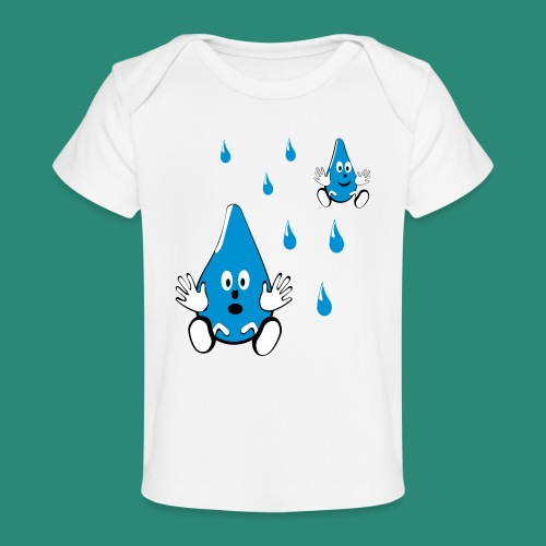 Tropfen - Baby Bio-T-Shirt