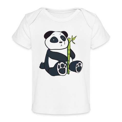 Oso Panda con Bamboo - Camiseta orgánica para bebé