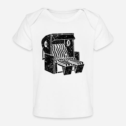 Strandkorb Illustration von Clarissa Schwarz - Baby Bio-T-Shirt