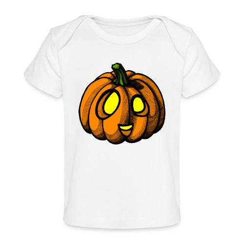 Pumpkin Halloween scribblesirii - Økologisk T-shirt til baby