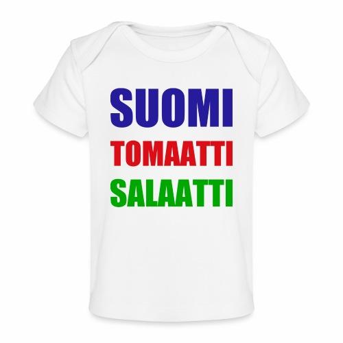 SUOMI SALAATTI tomater - Økologisk baby-T-skjorte