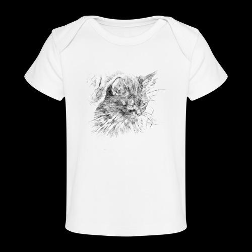 chat triste - T-shirt bio Bébé