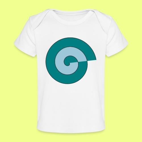 espiral color - Camiseta orgánica para bebé