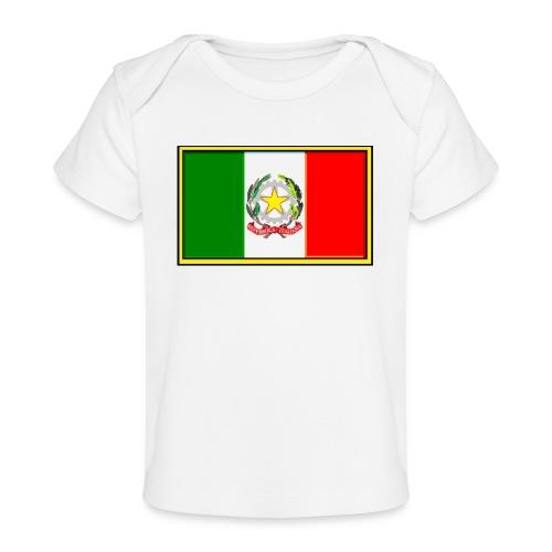 Bandiera Italiana - Maglietta ecologica per neonato