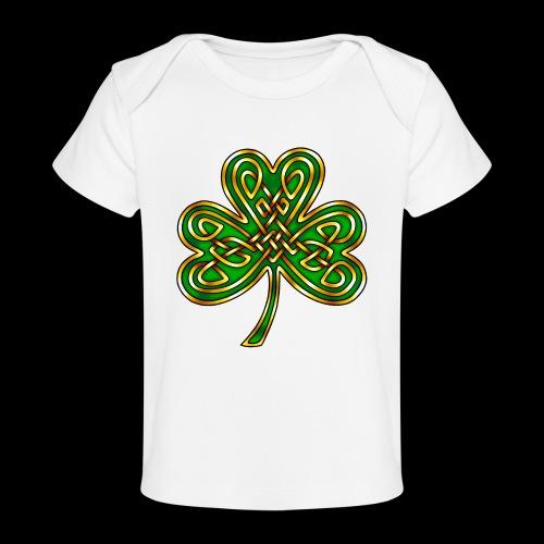 Celtic Knotwork Shamrock - Organic Baby T-Shirt