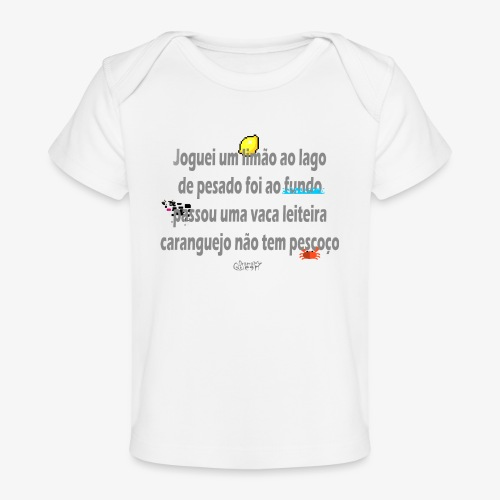 Versinho de infancia - Organic Baby T-Shirt