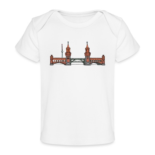 Oberbaumbrücke w Berlinie c - Ekologiczna koszulka dla niemowląt
