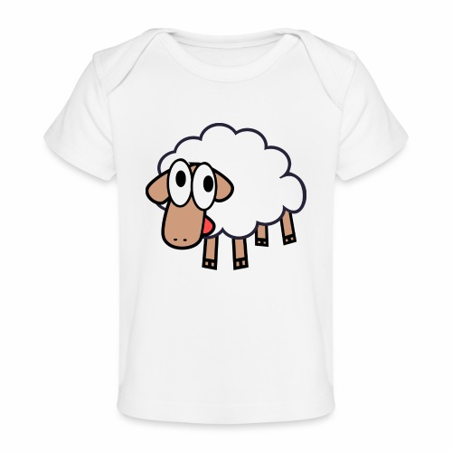 Sheep Cartoon - Baby bio-T-shirt