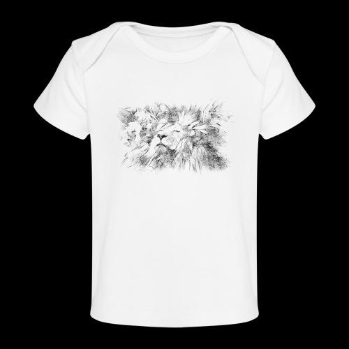 Le lion face au soleil - T-shirt bio Bébé
