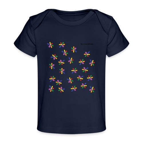 colour flower design tc - Organic Baby T-Shirt