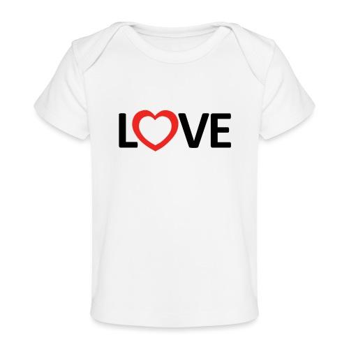 Love - Camiseta orgánica para bebé