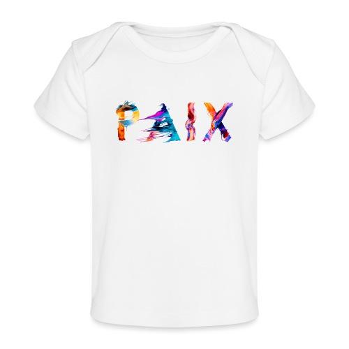 Paix - T-shirt bio Bébé