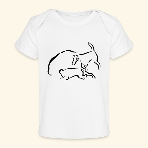 Foxit - musta - Vauvojen luomu-t-paita