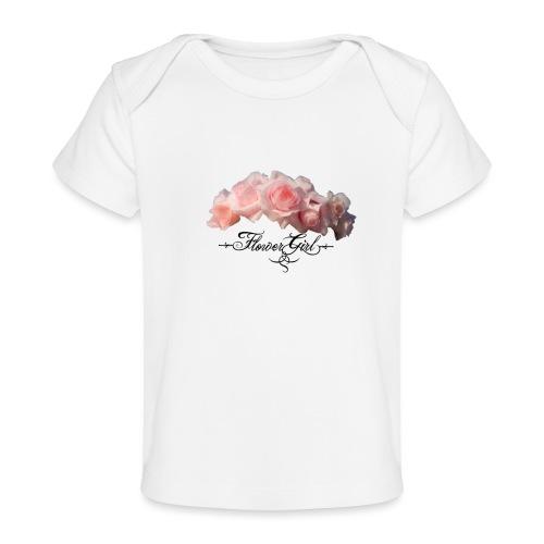 flower girl - Økologisk T-shirt til baby