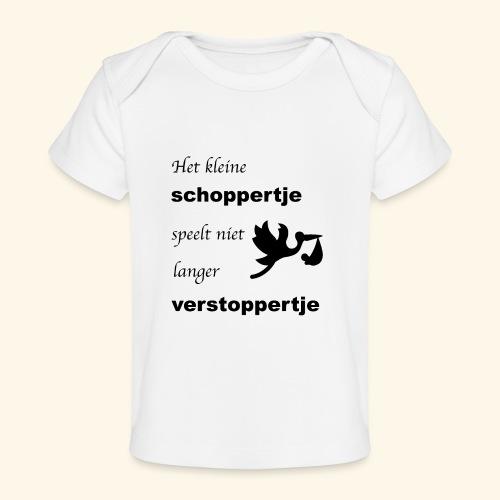 Schoppertje speelt verstoppertje - Baby bio-T-shirt