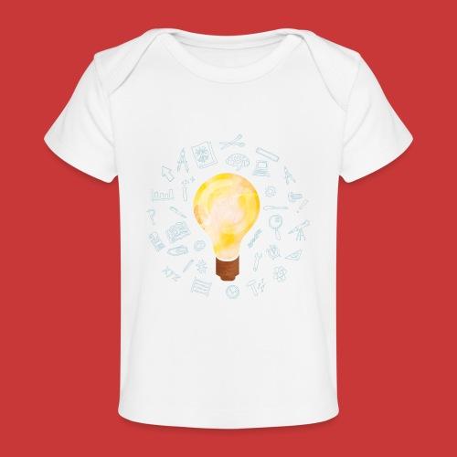 5 IDEEN Glühbirne 2018 - Baby Bio-T-Shirt