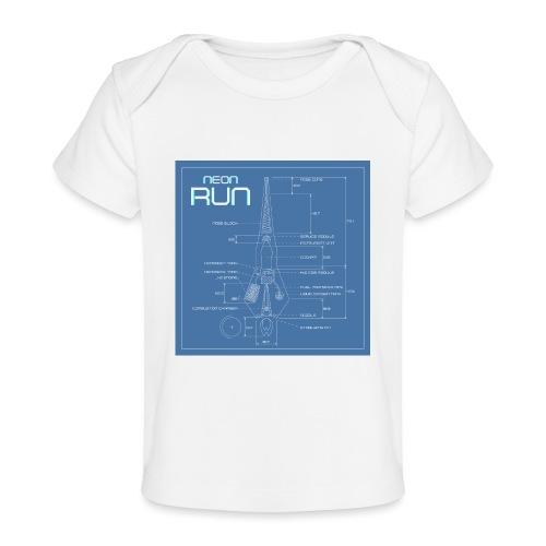 NeonRun blueprint - Baby bio-T-shirt