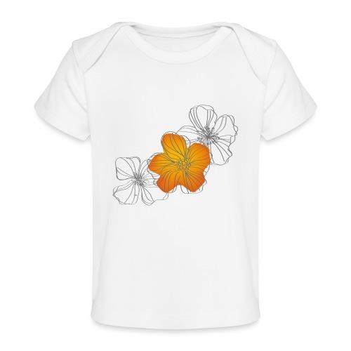 Flowers - Camiseta orgánica para bebé