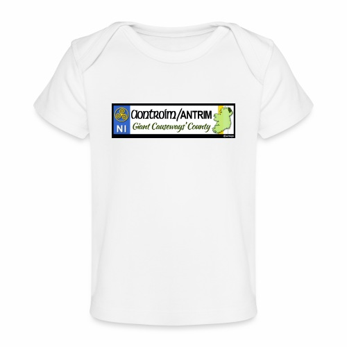 CO. ANTRIM, NORTHERN IRELAND licence plate tags - Organic Baby T-Shirt