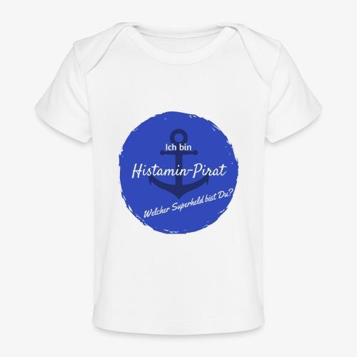 Histamin-Pirat Superheld (blau) - Baby Bio-T-Shirt