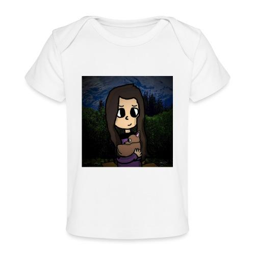ninjax met achtergrond - Baby bio-T-shirt
