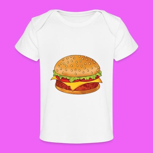 hamburguesa - Camiseta orgánica para bebé
