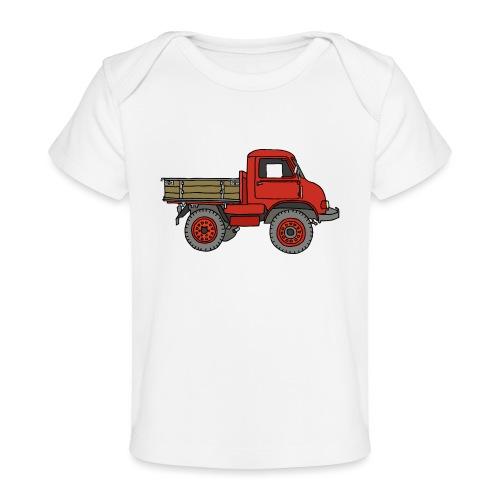 Roter Lastwagen, LKW, Laster - Baby Bio-T-Shirt