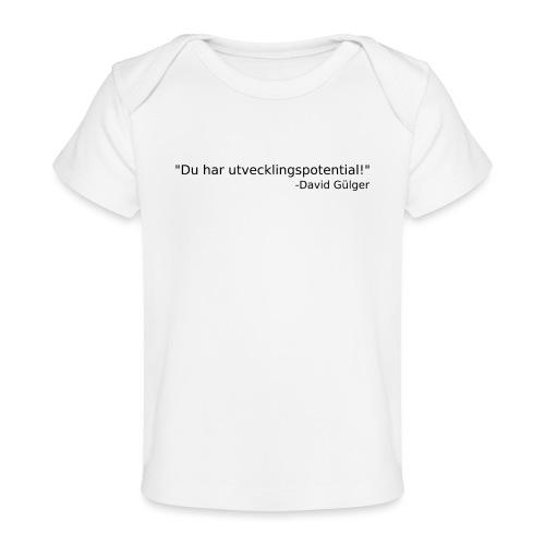 Ju jutsu kai förslag 1 version 1 svart text - Ekologisk T-shirt baby