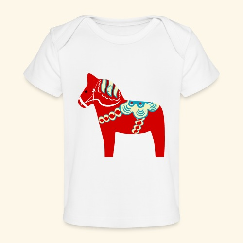 Röd dalahäst - Ekologisk T-shirt baby