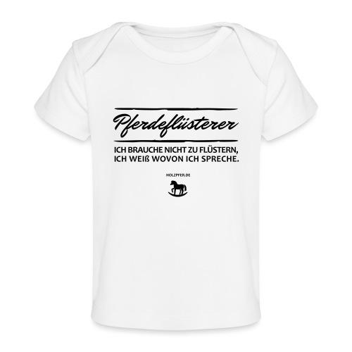 Holzpferd - Baby Bio-T-Shirt