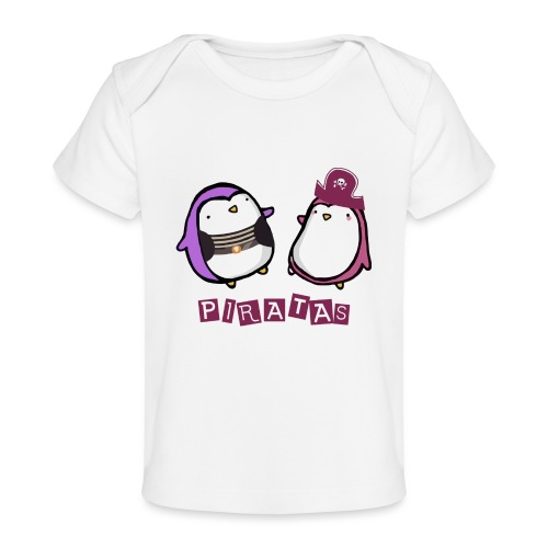 PINGUINOSPIRATAS - Camiseta orgánica para bebé