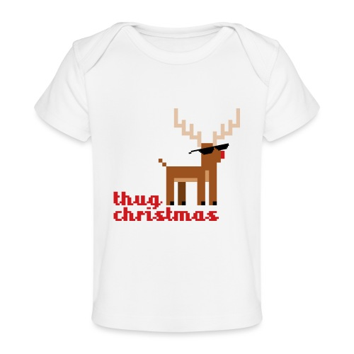 Rudolph the Red Nosed Reindeer Pixel - Organic Baby T-Shirt