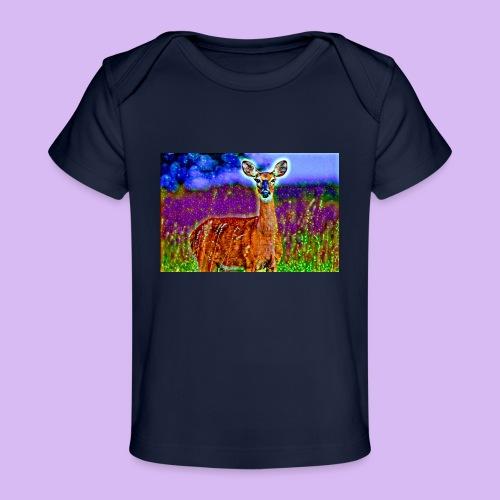 Cerbiatto con magici effetti - Maglietta ecologica per neonato
