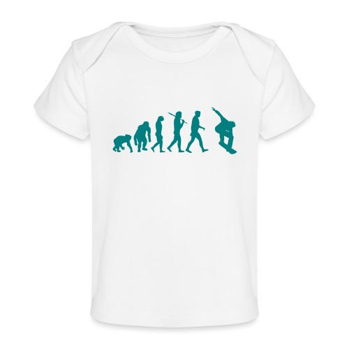 evolution_of_snowboarding - Baby bio-T-shirt