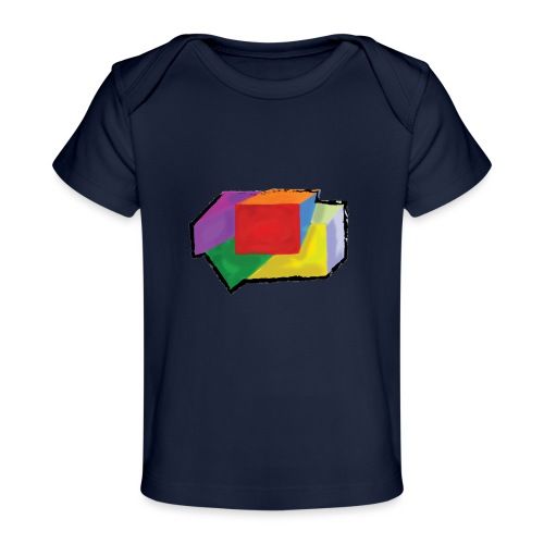 boxes with stroke - Organic Baby T-Shirt