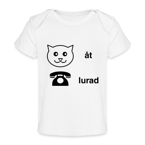 Katt åt telefon - Ekologisk T-shirt baby