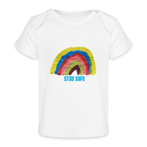Stay Safe Rainbow Tshirt - Organic Baby T-Shirt