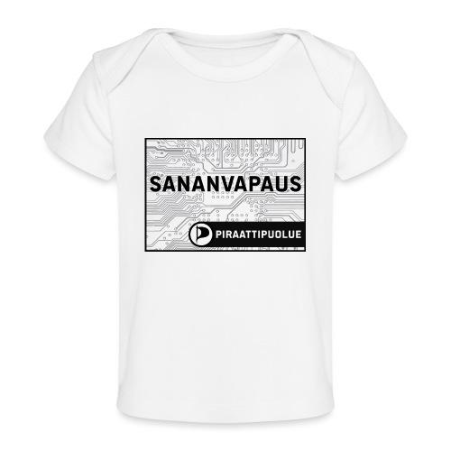 Sananvapaus - Vauvojen luomu-t-paita
