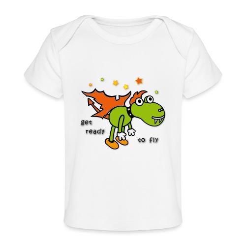 Drachen, Sterne, fliegen - Baby Bio-T-Shirt