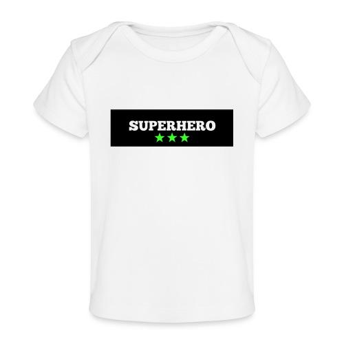 Lätzchen Superhero - Baby Bio-T-Shirt