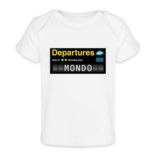 Departures MONDO jpg - Maglietta ecologica per neonato