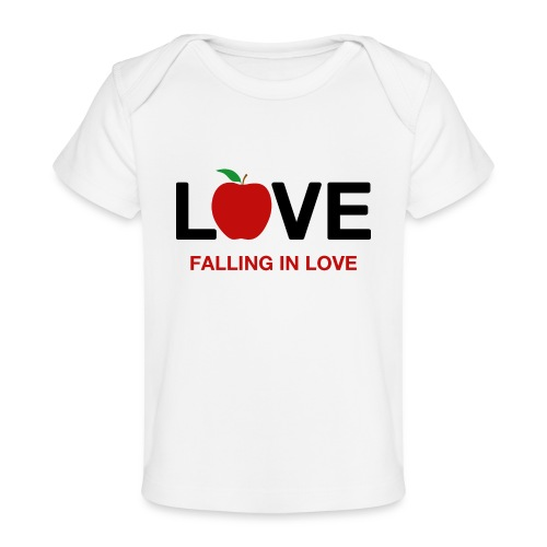 Falling in Love - Black - Organic Baby T-Shirt